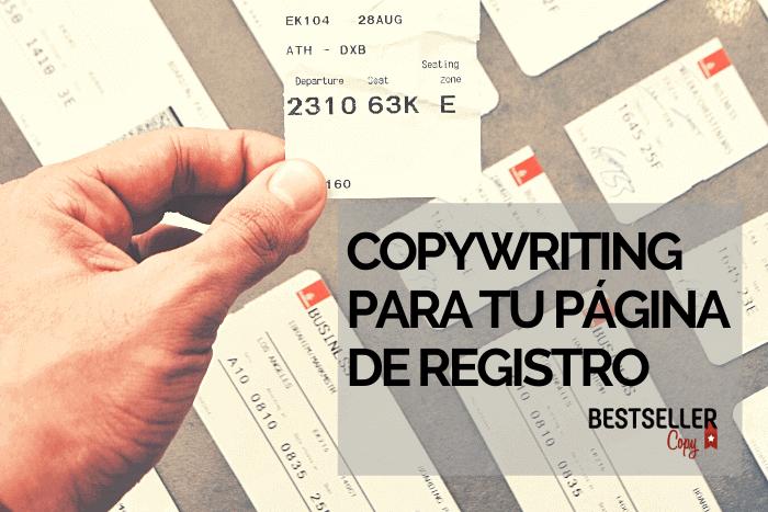 cómo redactar pagina registro